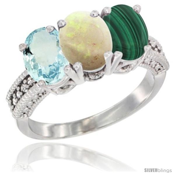 https://www.silverblings.com/29123-thickbox_default/14k-white-gold-natural-aquamarine-opal-malachite-ring-3-stone-oval-7x5-mm-diamond-accent.jpg