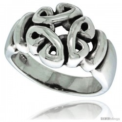 Sterling Silver Celtic Knot Ring 7/16 in wide