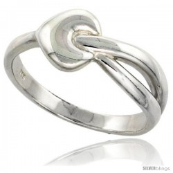Sterling Silver Heart Ring Flawless finish 3/8 in wide