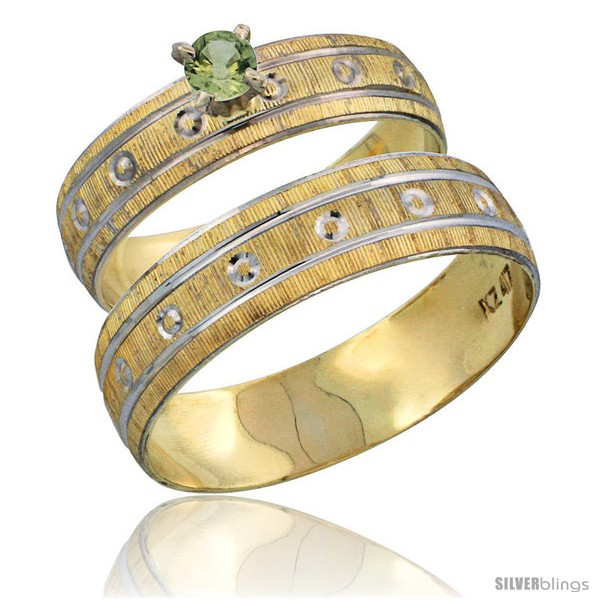 https://www.silverblings.com/29211-thickbox_default/10k-gold-2-piece-0-25-carat-green-sapphire-ring-set-engagement-ring-mans-wedding-band-diamond-cut-pattern-style-10y505em.jpg