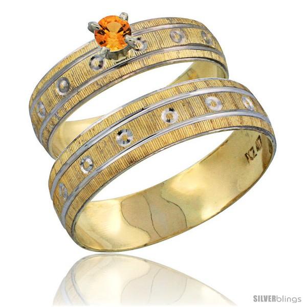 https://www.silverblings.com/29223-thickbox_default/10k-gold-2-piece-0-25-carat-orange-sapphire-ring-set-engagement-ring-mans-wedding-band-diamond-cut-pattern-style-10y505em.jpg
