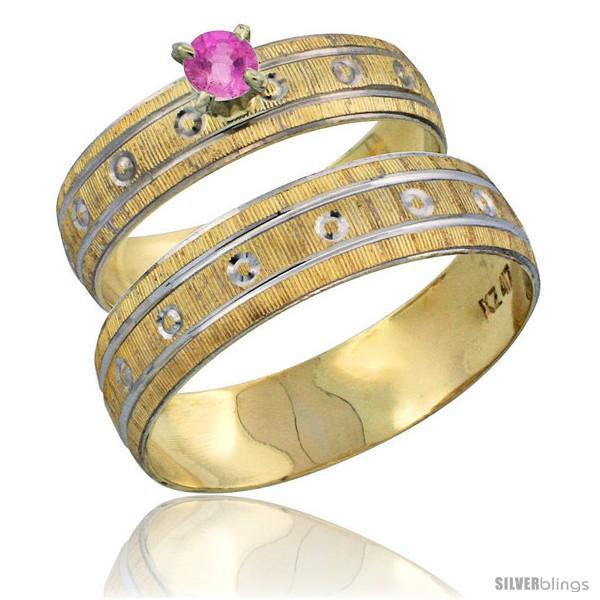 https://www.silverblings.com/29229-thickbox_default/10k-gold-2-piece-0-25-carat-pink-sapphire-ring-set-engagement-ring-mans-wedding-band-diamond-cut-pattern-style-10y505em.jpg