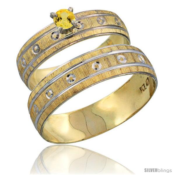 https://www.silverblings.com/29241-thickbox_default/10k-gold-2-piece-0-25-carat-yellow-sapphire-ring-set-engagement-ring-mans-wedding-band-diamond-cut-pattern-style-10y505em.jpg