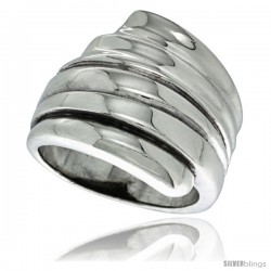 Sterling Silver Scalloped Dome Ring