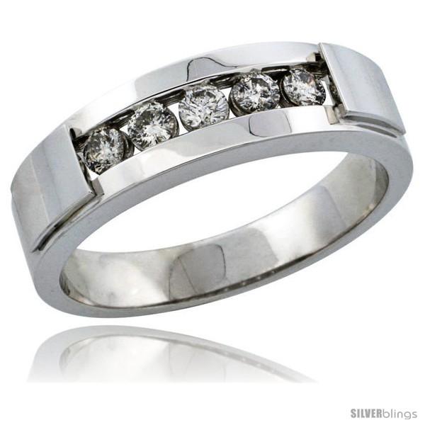 https://www.silverblings.com/29648-thickbox_default/10k-white-gold-5-stone-mens-diamond-ring-band-w-0-40-carat-brilliant-cut-diamonds-1-4-in-6mm-wide.jpg