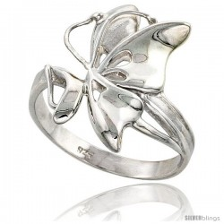 Sterling Silver Butterfly Ring Flawless finish 7/8 in wide