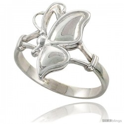 Sterling Silver Butterfly Ring Flawless finish 3/4 in wide