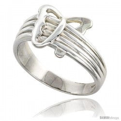 Sterling Silver Abstract Butterfly Ring Flawless finish 1/2 in wide