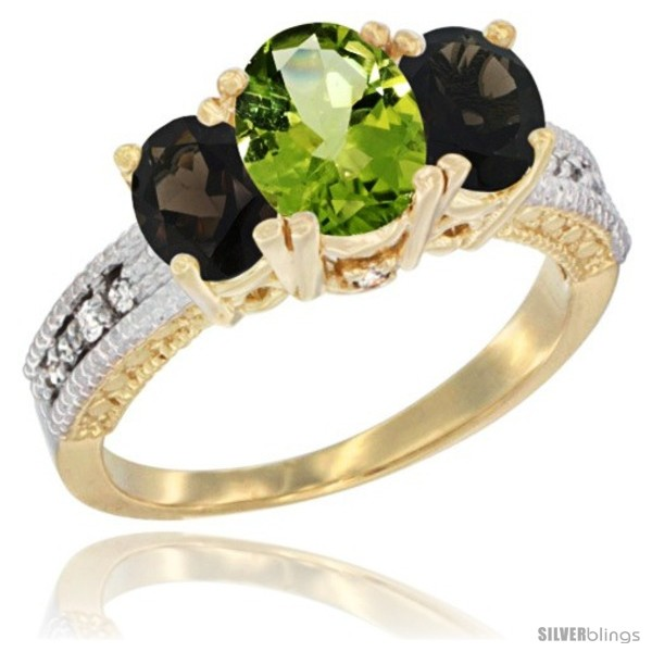 https://www.silverblings.com/29696-thickbox_default/10k-yellow-gold-ladies-oval-natural-peridot-3-stone-ring-smoky-topaz-sides-diamond-accent.jpg