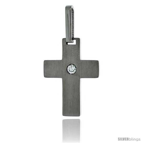 https://www.silverblings.com/2986-thickbox_default/stainless-steel-cross-pendant-matte-finish-cz-center-1-in-tall-30-in-chain.jpg