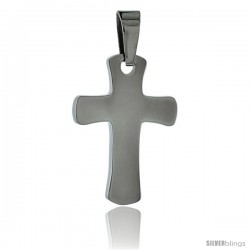 Stainless Steel Cross Pendant, 1 in tall with 30 in chain