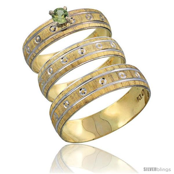 https://www.silverblings.com/29924-thickbox_default/10k-gold-3-piece-trio-green-sapphire-wedding-ring-set-him-her-0-10-ct-rhodium-accent-diamond-cut-pattern-style-10y505w3.jpg