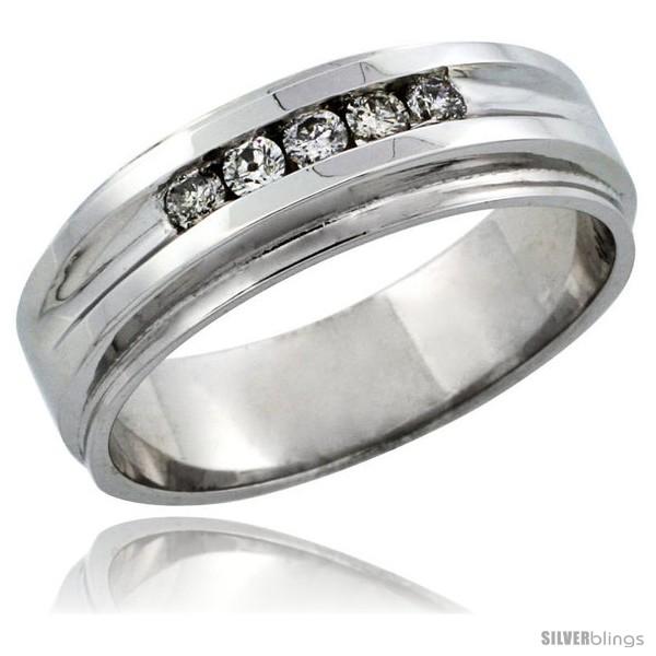 https://www.silverblings.com/29948-thickbox_default/10k-white-gold-5-stone-mens-diamond-ring-band-w-0-23-carat-brilliant-cut-diamonds-1-4-in-7mm-wide.jpg