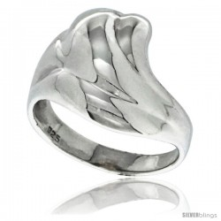 Sterling Silver Freeform Ring 1/2 in wide
