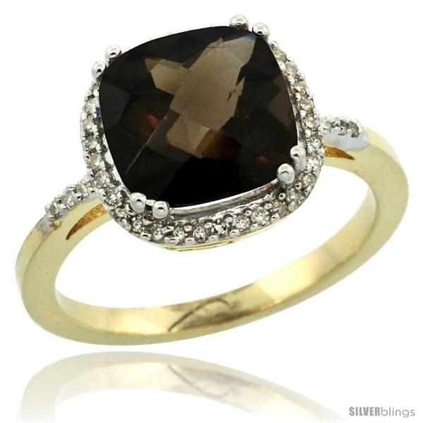 https://www.silverblings.com/30024-thickbox_default/10k-yellow-gold-diamond-smoky-topaz-ring-3-05-ct-cushion-cut-9x9-mm-1-2-in-wide.jpg