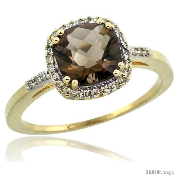 https://www.silverblings.com/30056-thickbox_default/10k-yellow-gold-diamond-smoky-topaz-ring-1-5-ct-checkerboard-cut-cushion-shape-7-mm-3-8-in-wide.jpg
