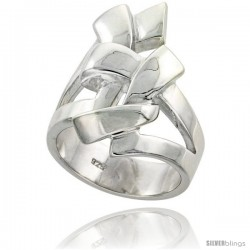 Sterling Silver Knot Ring Flawless finish 1 1/16 in wide