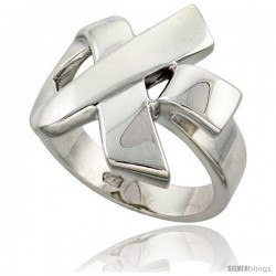 Sterling Silver Ribbon Ring Flawless finish 7/8 in wide