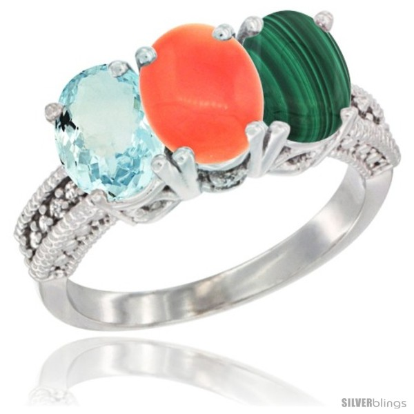 https://www.silverblings.com/30100-thickbox_default/14k-white-gold-natural-aquamarine-coral-malachite-ring-3-stone-oval-7x5-mm-diamond-accent.jpg
