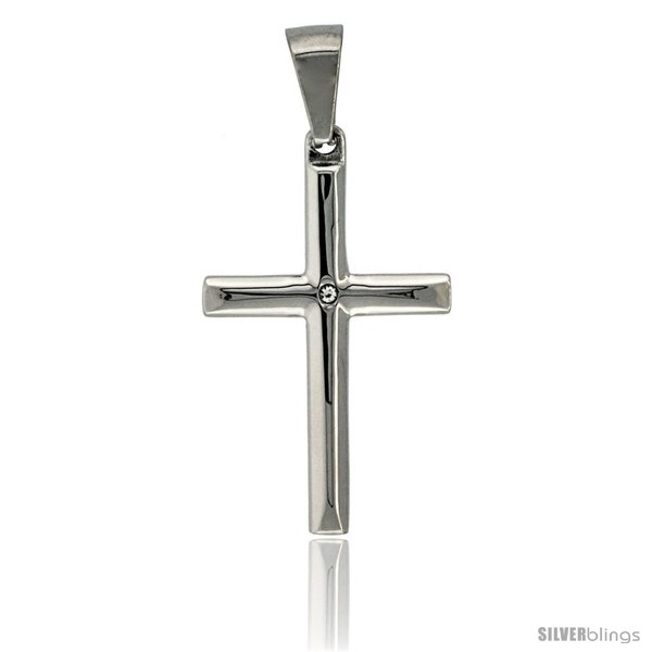 https://www.silverblings.com/3012-thickbox_default/stainless-steel-latin-cross-pendant-w-cz-stone-1-3-8-in-tall-30-in-chain.jpg