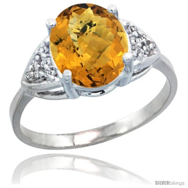 https://www.silverblings.com/30243-thickbox_default/10k-white-gold-diamond-whisky-quartz-ring-2-40-ct-oval-10x8-stone-3-8-in-wide.jpg