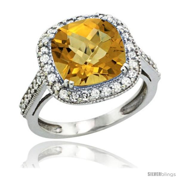 https://www.silverblings.com/30257-thickbox_default/10k-white-gold-diamond-halo-whisky-quartz-ring-cushion-shape-10-mm-4-5-ct-1-2-in-wide.jpg
