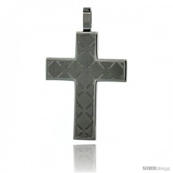 Surgical Steel Cross Pendant 1 3/16 in (35 mm), comes w/ 30 in. chain