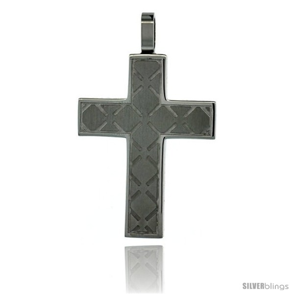 https://www.silverblings.com/3026-thickbox_default/surgical-steel-cross-pendant-1-3-16-in-35-mm-comes-w-30-in-chain.jpg
