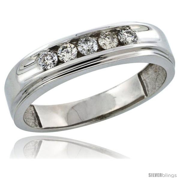https://www.silverblings.com/30269-thickbox_default/10k-white-gold-5-stone-mens-diamond-ring-band-w-0-46-carat-brilliant-cut-diamonds-1-4-in-6mm-wide.jpg
