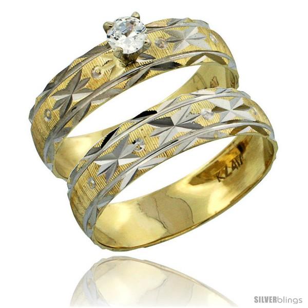https://www.silverblings.com/30309-thickbox_default/10k-gold-ladies-2-piece-0-10-carat-diamond-engagement-ring-set-diamond-cut-pattern-rhodium-accent-3-16-in-style-10y506e2.jpg