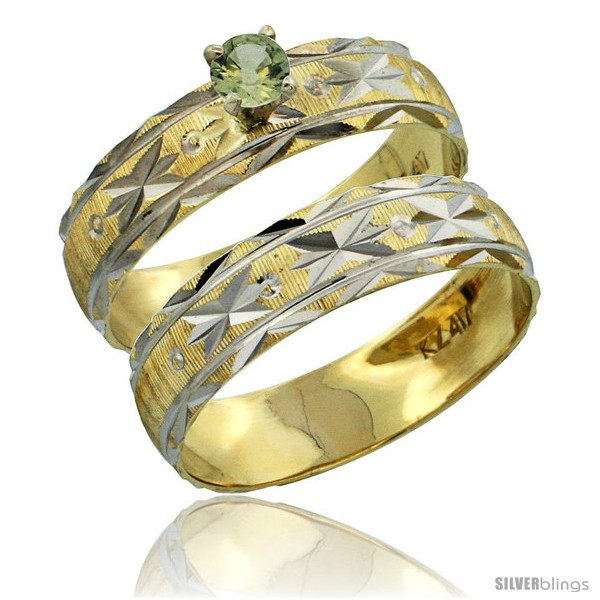 https://www.silverblings.com/30317-thickbox_default/10k-gold-ladies-2-piece-0-25-carat-green-sapphire-engagement-ring-set-diamond-cut-pattern-rhodium-accent-3-16-style-10y506e2.jpg