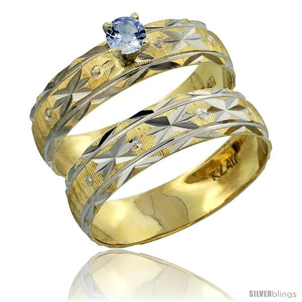 https://www.silverblings.com/30321-thickbox_default/10k-gold-ladies-2-piece-0-25-carat-light-blue-sapphire-engagement-ring-set-diamond-cut-pattern-rhodium-accent-style-10y506e2.jpg