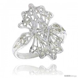 Sterling Silver Freeform Filigree Ring, 3/4 in -Style Fr458