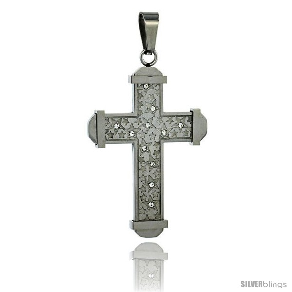 https://www.silverblings.com/3048-thickbox_default/stainless-steel-cross-pendant-stars-cz-stones-2-in-tall-comes-w-30-in-chain.jpg