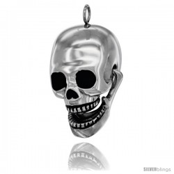 High Quality Stainless Steel Movable Skull Pendant, 30mm (1 3/16 in) long
