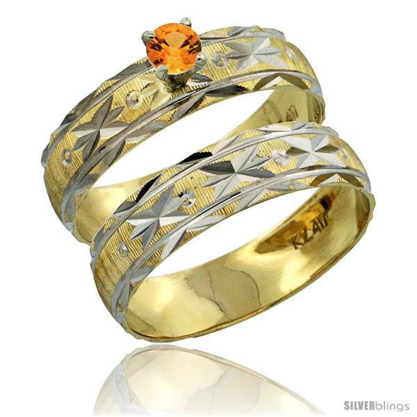 https://www.silverblings.com/30539-thickbox_default/10k-gold-ladies-2-piece-0-25-carat-orange-sapphire-engagement-ring-set-diamond-cut-pattern-rhodium-accent-style-10y506e2.jpg