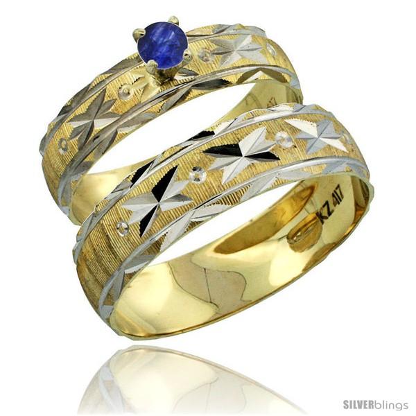 https://www.silverblings.com/30559-thickbox_default/10k-gold-2-piece-0-25-carat-deep-blue-sapphire-ring-set-engagement-ring-mans-wedding-band-diamond-cut-style-10y506em.jpg