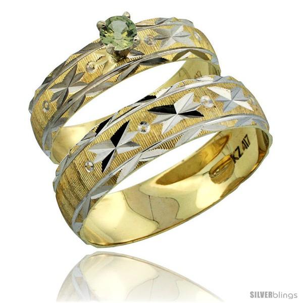 https://www.silverblings.com/30563-thickbox_default/10k-gold-2-piece-0-25-carat-green-sapphire-ring-set-engagement-ring-mans-wedding-band-diamond-cut-pattern-style-10y506em.jpg