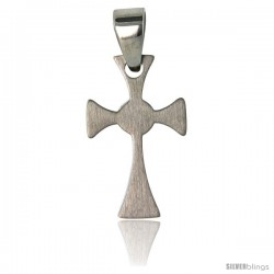 Stainless Steel Celtic Cross Pendant 1 in tall, w/ 30 in Chain