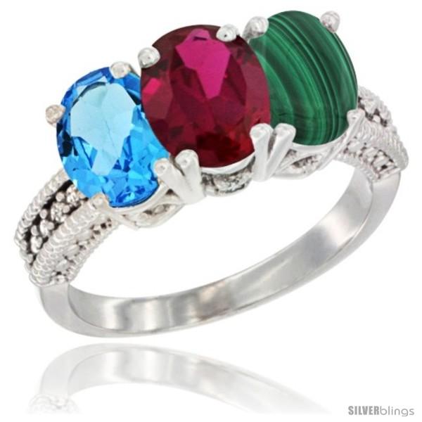 https://www.silverblings.com/30635-thickbox_default/14k-white-gold-natural-swiss-blue-topaz-ruby-malachite-ring-3-stone-7x5-mm-oval-diamond-accent.jpg