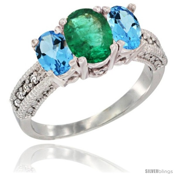https://www.silverblings.com/30665-thickbox_default/14k-white-gold-ladies-oval-natural-emerald-3-stone-ring-swiss-blue-topaz-sides-diamond-accent.jpg