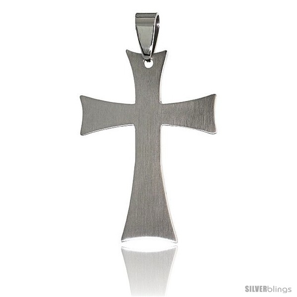 https://www.silverblings.com/3074-thickbox_default/stainless-steel-cross-pendant-1-1-2-in-tall-w-30-in-chain-style-pss5b.jpg