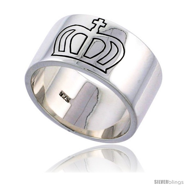 https://www.silverblings.com/30776-thickbox_default/sterling-silver-mens-cross-and-crown-ring-solid-back-flawless-finish-1-2-in-wide.jpg