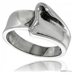 Sterling Silver Freeform Dome Ring 1/2 in wide