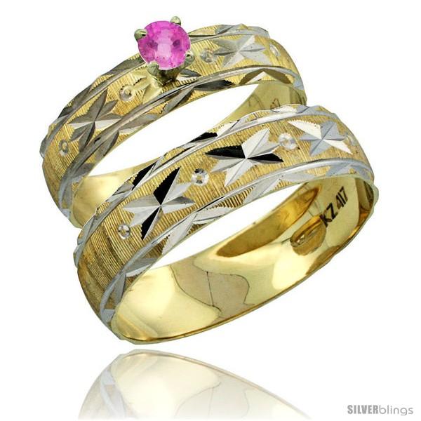 https://www.silverblings.com/30801-thickbox_default/10k-gold-2-piece-0-25-carat-pink-sapphire-ring-set-engagement-ring-mans-wedding-band-diamond-cut-pattern-style-10y506em.jpg