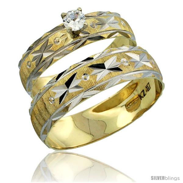 https://www.silverblings.com/30805-thickbox_default/10k-gold-2-piece-0-25-carat-white-sapphire-ring-set-engagement-ring-mans-wedding-band-diamond-cut-pattern-style-10y506em.jpg