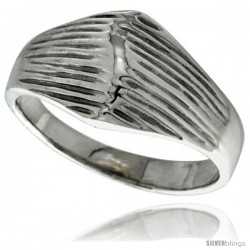 Sterling Silver Dome Ring 1/2 in wide