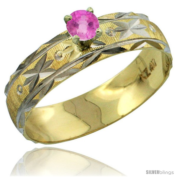 https://www.silverblings.com/31016-thickbox_default/10k-gold-ladies-solitaire-0-25-carat-pink-sapphire-engagement-ring-diamond-cut-pattern-rhodium-accent-3-16-style-10y506er.jpg