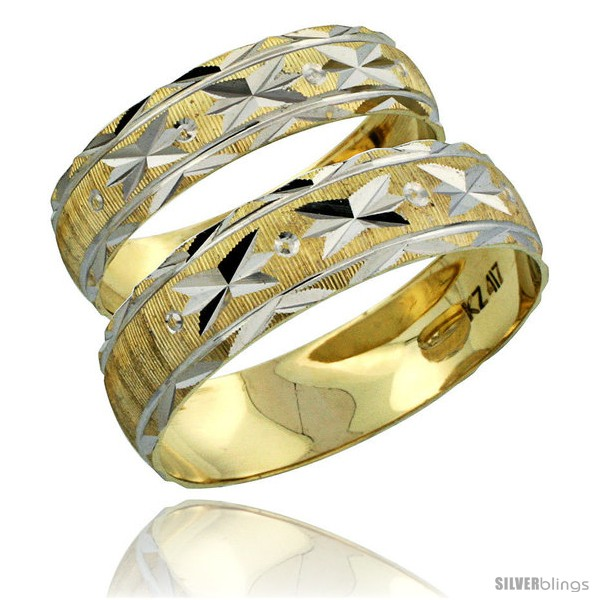 https://www.silverblings.com/31036-thickbox_default/10k-gold-2-piece-wedding-band-ring-set-him-her-5-5mm-4-5mm-diamond-cut-pattern-rhodium-accent-style-10y506w2.jpg