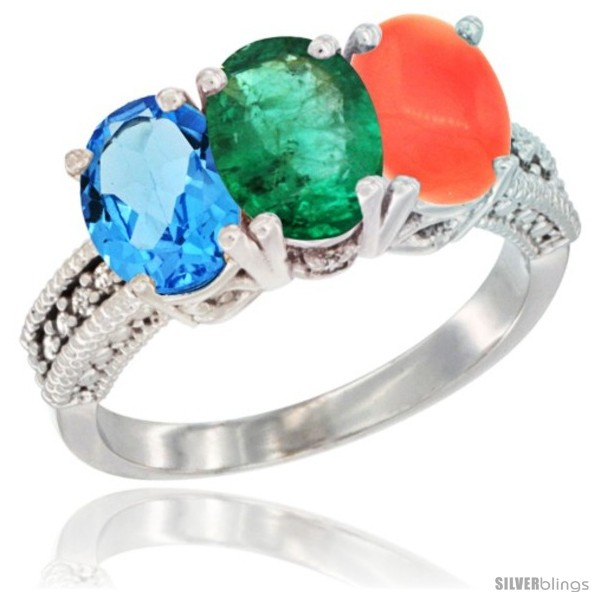 https://www.silverblings.com/31156-thickbox_default/14k-white-gold-natural-swiss-blue-topaz-emerald-coral-ring-3-stone-7x5-mm-oval-diamond-accent.jpg